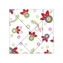 Floral Flower Rose Star Acrylic Tangram Puzzle (4  x 4 )