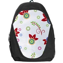 Floral Flower Rose Star Backpack Bag