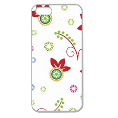 Floral Flower Rose Star Apple Seamless iPhone 5 Case (Clear)