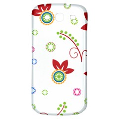Floral Flower Rose Star Samsung Galaxy S3 S III Classic Hardshell Back Case
