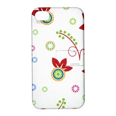 Floral Flower Rose Star Apple iPhone 4/4S Hardshell Case with Stand