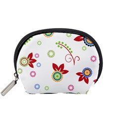 Floral Flower Rose Star Accessory Pouches (Small)