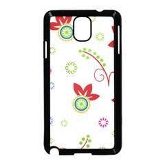 Floral Flower Rose Star Samsung Galaxy Note 3 Neo Hardshell Case (Black)
