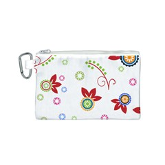 Floral Flower Rose Star Canvas Cosmetic Bag (S)