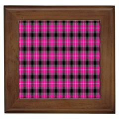 Cell Background Pink Surface Framed Tiles