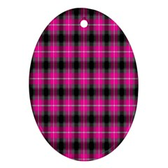 Cell Background Pink Surface Ornament (Oval)