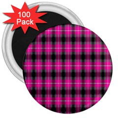 Cell Background Pink Surface 3  Magnets (100 Pack)