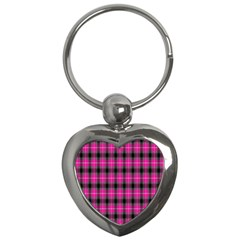 Cell Background Pink Surface Key Chains (heart)