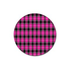 Cell Background Pink Surface Magnet 3  (Round)