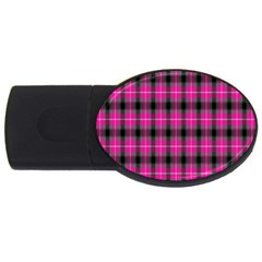 Cell Background Pink Surface USB Flash Drive Oval (2 GB)