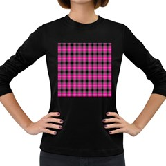 Cell Background Pink Surface Women s Long Sleeve Dark T-Shirts
