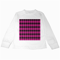 Cell Background Pink Surface Kids Long Sleeve T-Shirts
