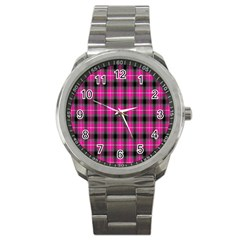 Cell Background Pink Surface Sport Metal Watch