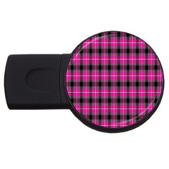 Cell Background Pink Surface USB Flash Drive Round (4 GB)
