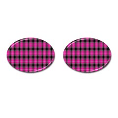 Cell Background Pink Surface Cufflinks (Oval)