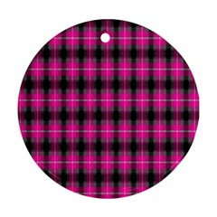 Cell Background Pink Surface Round Ornament (Two Sides)