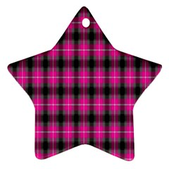 Cell Background Pink Surface Star Ornament (two Sides)