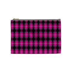 Cell Background Pink Surface Cosmetic Bag (Medium)