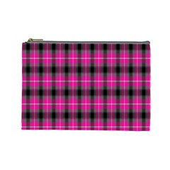 Cell Background Pink Surface Cosmetic Bag (large)