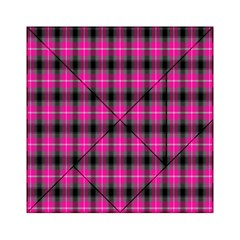 Cell Background Pink Surface Acrylic Tangram Puzzle (6  x 6 )
