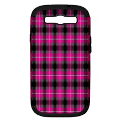 Cell Background Pink Surface Samsung Galaxy S III Hardshell Case (PC+Silicone)