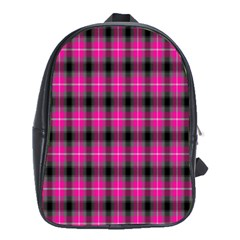 Cell Background Pink Surface School Bags (XL)