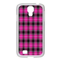 Cell Background Pink Surface Samsung GALAXY S4 I9500/ I9505 Case (White)