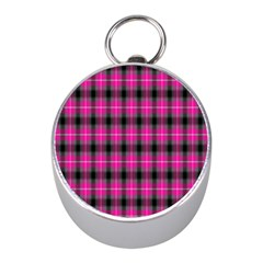 Cell Background Pink Surface Mini Silver Compasses