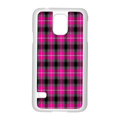 Cell Background Pink Surface Samsung Galaxy S5 Case (White)
