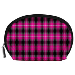 Cell Background Pink Surface Accessory Pouches (Large)