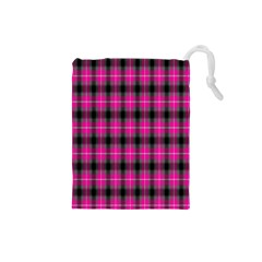 Cell Background Pink Surface Drawstring Pouches (Small)