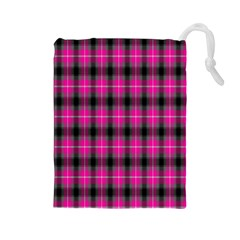 Cell Background Pink Surface Drawstring Pouches (large)
