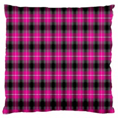 Cell Background Pink Surface Large Flano Cushion Case (Two Sides)