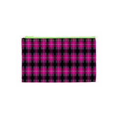 Cell Background Pink Surface Cosmetic Bag (xs)