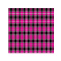 Cell Background Pink Surface Small Satin Scarf (Square)