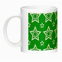 Green White Star Line Space Night Luminous Mugs