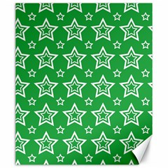 Green White Star Line Space Canvas 20  x 24