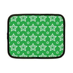 Green White Star Line Space Netbook Case (Small)