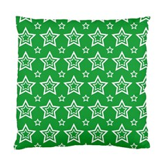 Green White Star Line Space Standard Cushion Case (One Side)