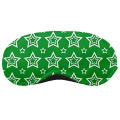 Green White Star Line Space Sleeping Masks