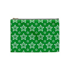 Green White Star Line Space Cosmetic Bag (Medium)