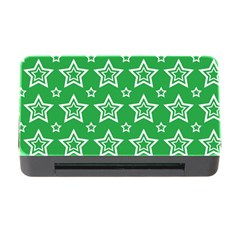 Green White Star Line Space Memory Card Reader with CF