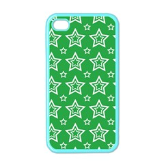 Green White Star Line Space Apple Iphone 4 Case (color)