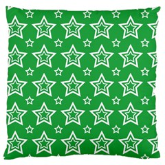 Green White Star Line Space Large Cushion Case (One Side)