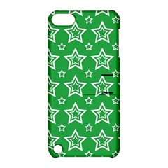 Green White Star Line Space Apple iPod Touch 5 Hardshell Case with Stand