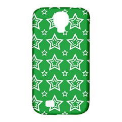 Green White Star Line Space Samsung Galaxy S4 Classic Hardshell Case (PC+Silicone)