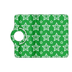 Green White Star Line Space Kindle Fire HD (2013) Flip 360 Case