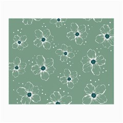 Floral Flower Rose Sunflower Grey Small Glasses Cloth (2-Side)