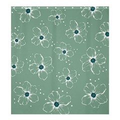 Floral Flower Rose Sunflower Grey Shower Curtain 66  x 72  (Large)