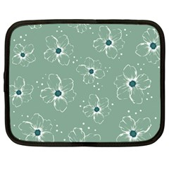 Floral Flower Rose Sunflower Grey Netbook Case (XXL)